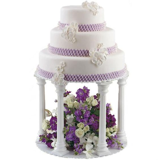 4Pcs Long Roman Pillars Tiers Plate Set Wedding Cake – KITKIWI